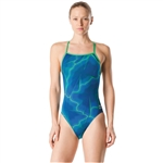Speedo Female Cyclone Strong One Back Blue/Green