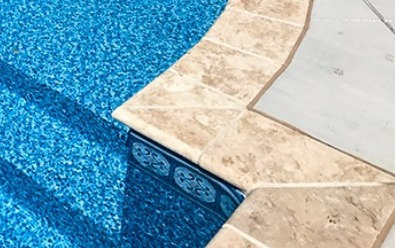 Travertine Coping, Pool space