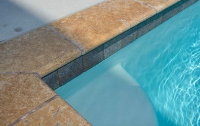 Travertine Coping for pool area