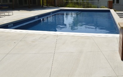 Broomed Concrete Decking, Pool space and deck
