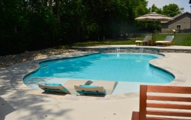 Gunite Swimming Pool Built By Pool Construction Company Swim Things In Blue  Springs MO