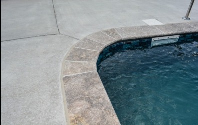 Travertine Coping, Edge of pool deck