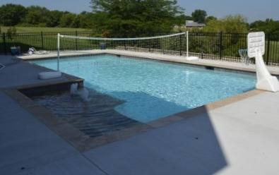 16x36 Rectangle Gunite swimming pool with L