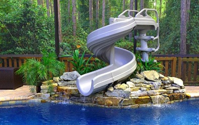 Inter Fab waterslide for swimming pools