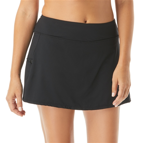 Beach House Emma Pull On Swim Skort - Beach Solids