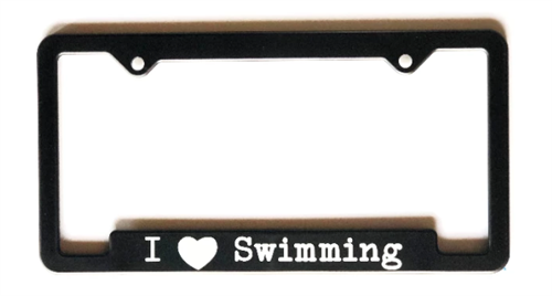 Love Swimming Plate Frame