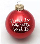 Home is where the pool is Ornament