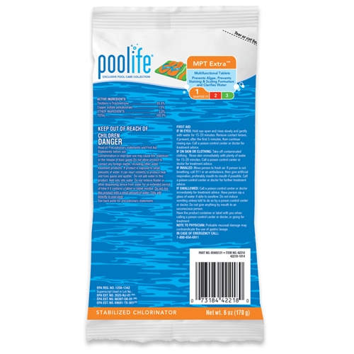 "poolife MPT Extra 3"" Chlorinating Tablets 6 oz"