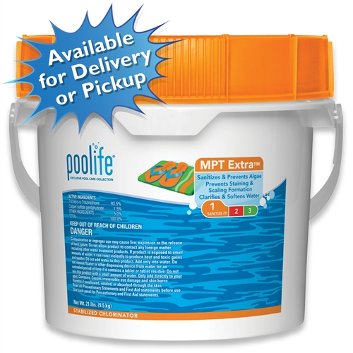 "poolife MPT Extra 3"" Chlorinating Tablets 21 LBS"
