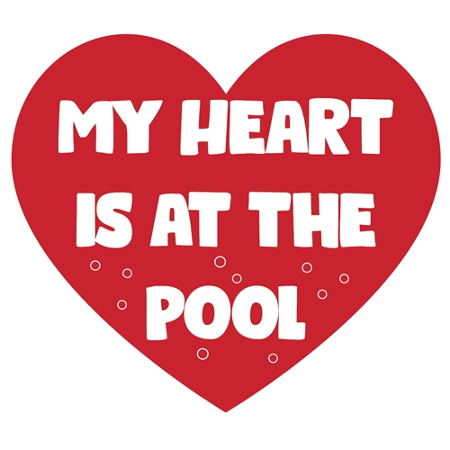 My Heart is at the Pool Sticker