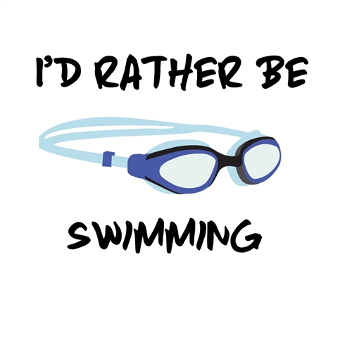 I'd Rather Be Swimming Sticker